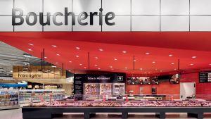 Das Pendant in Rot ist die für Abteilung Fleisch- und Wurstwaren.