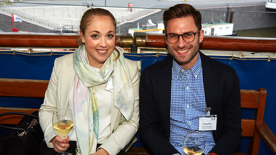 Handel trifft Industrie: Evelyn Zink, Markant, und Philipp Rath, Spax,