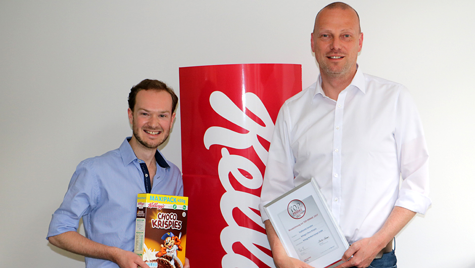 Kellogg Northern Europe GmbH, Hamburg: Frederic Derreumaux, Marketing Director Cereals (l.), und Markus Wöltering, Sales Director (Germany/Sweden/CEE).