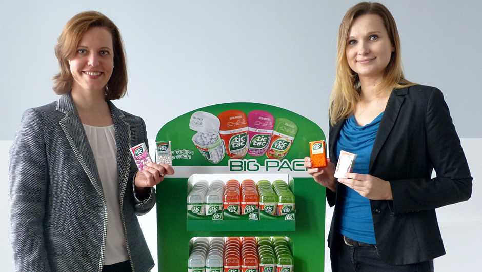 Ferrero Deutschland GmbH, Frankfurt: Eva Dahlgrün, Country Marketing Manager (l.), und Catharina Bannier, Senior Produkt Manager Tic Tac.