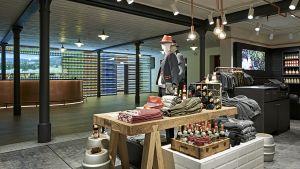 """Vom Shop gelangt der Kunde zur """"Zäpfle-Bar"""". Hier beginnen und enden die organisierten Brauereiführungen."""