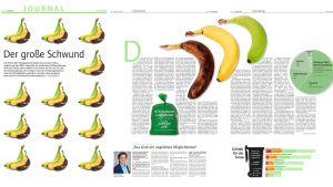 """Spannende Inhalte attraktiv und bildstark präsentiert: Das Journal der Lebensmittel Zeitung räumt bei den diesjährigen European Newspaper Awards gleich fünf Preise für Gestaltung ab. Für diesen Artikel über Lebensmittelverschwendung gibt es einen Award in der Kategorie """"Aufmacher / Sektionstitelgestaltung""""."""