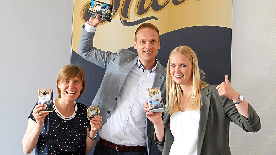 Mars Petcare Europe GmbH, Verden: Maren Allnoch, Brand Manager, Jochen Horstmann, Marketing Director, und Kerstin Schnier, Junior Brand Manager (v.l.).