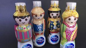 Verpackungsdesigner arbeiten unentwegt daran, die Produkte optimal zu präsentieren und Kunden zum Zugreifen zu animieren. Nestlé Waters etwa will bei seiner Wassermarke Nestlé Pure Life mit Playmobil-Design punkten.