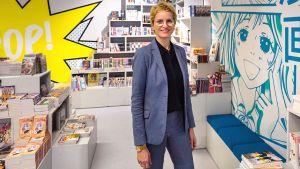 """Nina Hugendubel, geschäftsführende Gesellschafterin des Buchhandelsfilialisten, will aus der Filiale einen """"Treffpunkt für Erlebnisse rund ums Lesen"""" machen."""