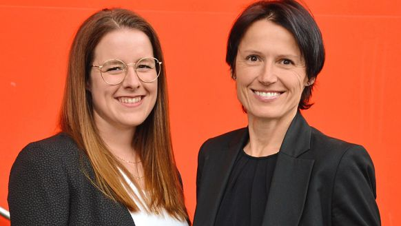 Hochland Deutschland GmbH, Heimenkirch: Annika Fettig, Junior Product Manager Gervais (l.), und Jutta Sachau, Marketing Manager Gervais.
