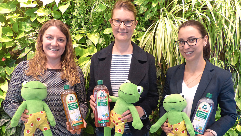 Werner & Mertz GmbH, Mainz: Janina Ziegler, Media & PR Manager, Karin Greve, Senior Brand-Manager, Elisa Ballmann, Junior Market Insights & Research Manager (v.l.).