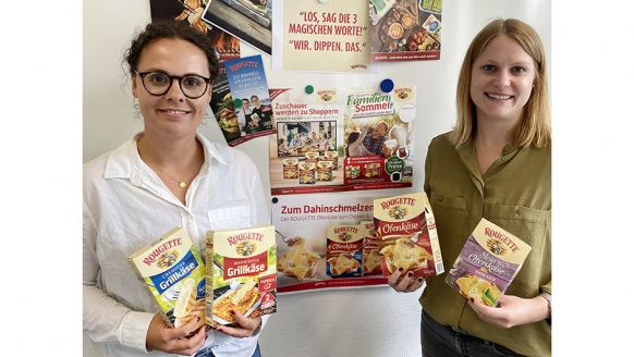 Käserei Champignon Hofmeister GmbH & Co. KG, Lauben/Allgäu: Kathrin Schulz, Trade Marketing Projektmanagerin (l.), und Stefanie Frank, Junior Brand Managerin.