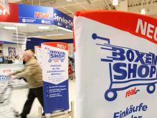 """Unter dem Logo """"Boxenshop"""" testet Real in Wildau einen neuen Einkaufsservice."""
