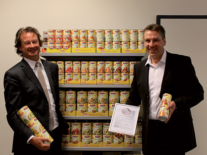 Ingmar van den Doel (l.), Director Marketing & Development, und Thomas Haebler, Nationaler Verkaufsleiter – beide für Sonnen Bassermann bei Struik Foods, Berlin.