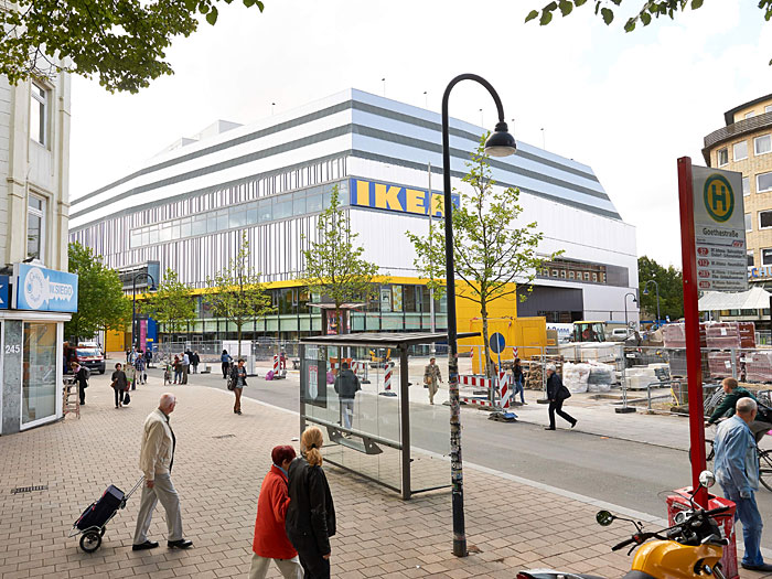ikea citystore in hamburg. Black Bedroom Furniture Sets. Home Design Ideas