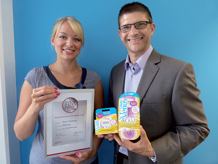 Barbara Schillo, Category Manager, und Marc Blessin, Senior Category Manager, beide Gillette D-A-CH bei Procter & Gamble.