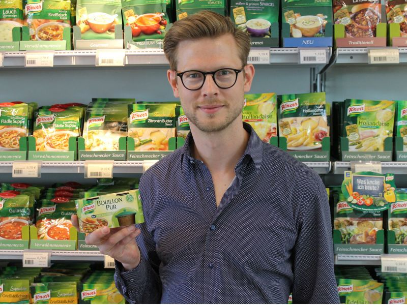 Claus Bierbaum, Senior Brand Manager Knorr Soups & Cooking Products D-A-CH, bei Unilever.