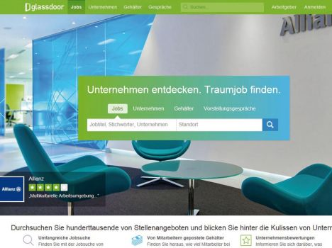 Markteintritt: Die internationale Bewertungsplattform Glassdoor.