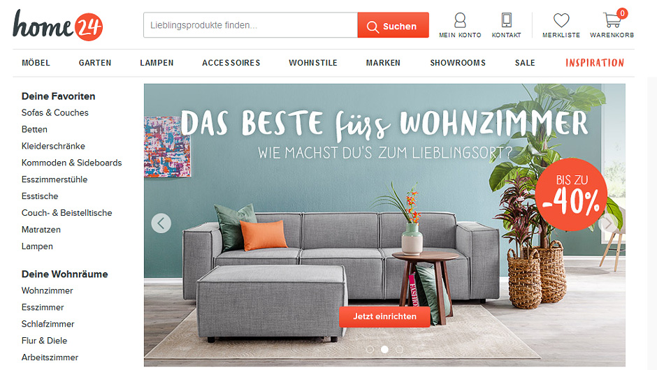 multichannel home24 zieht bei karstadt ein. Black Bedroom Furniture Sets. Home Design Ideas
