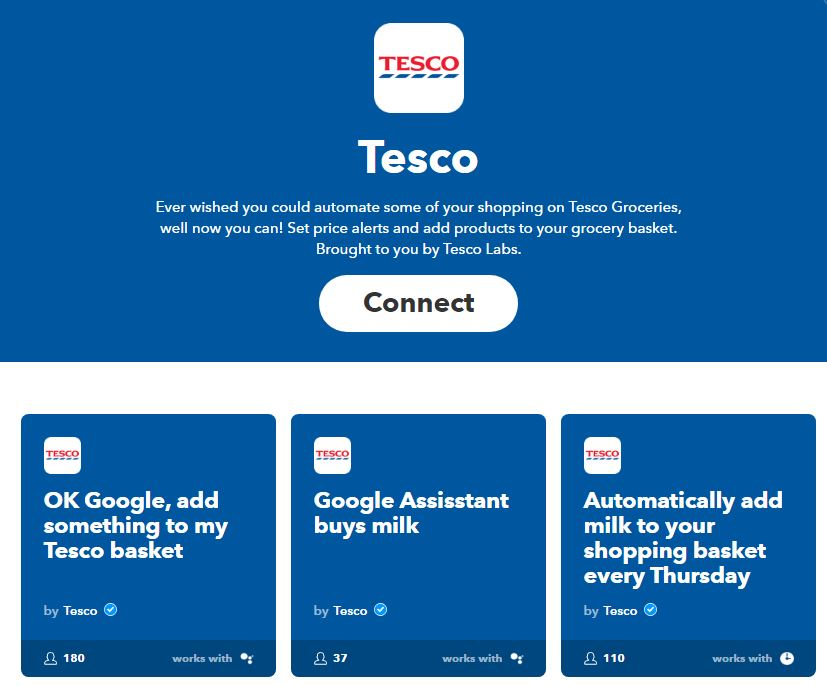 Tesco Labs is developing applets that work with voice activated Google Home to search for and add products to shoppers' grocery baskets