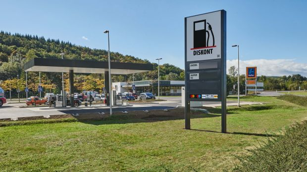 Diskont unmanned petrol station in Austria
