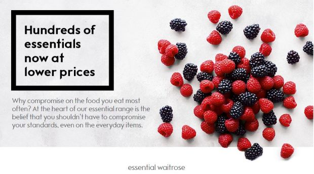 Despite margin pressure, this week Waitrose introduced price cuts across its Essential Waitrose private label line.
