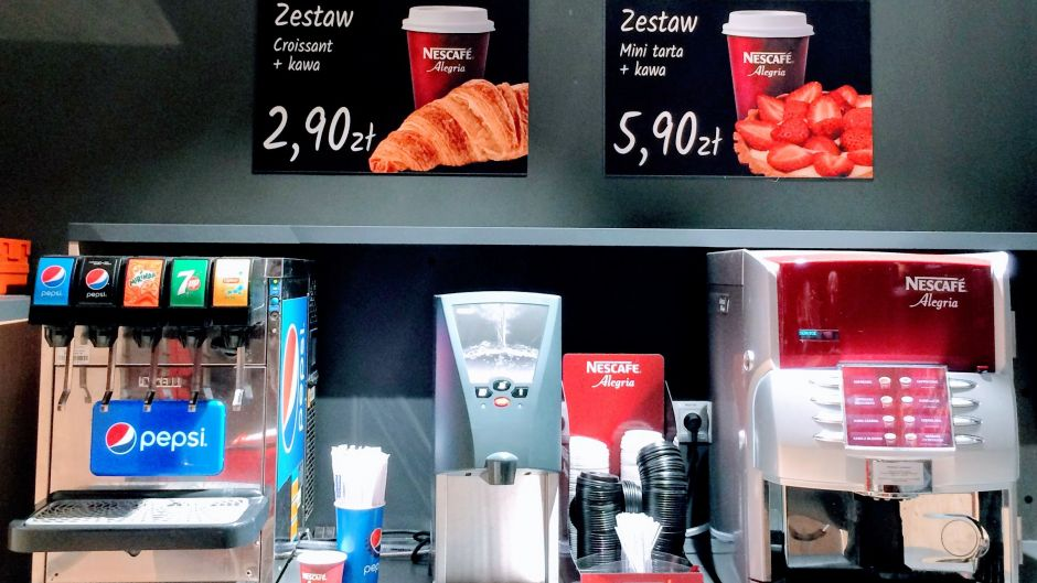 The snacking area provides customers with a microwave, coffee and drinks dispenser.