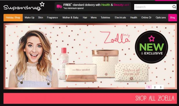Changing weekly star buys and exclusive private label lines, such as this one with celebrity blogger Zoella, have differentiated the brand and driven sales growth.