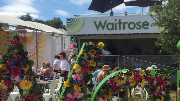 Waitrose has been taking its pop-up festival cafe out and about to music festivals over the summer, such as this one at Cornbury.