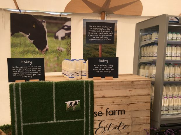 Waitrose's principles of farm sustainability were showcased, with tractor tours and displays as well as plenty of sampling and free tastings.