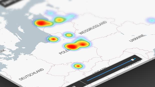 Interaktive Karte zur Afrikanischen Schweinepest (ASP) in Europa seit 2016