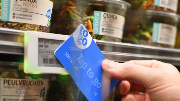Initially, customers will have to use a card if they want to shop in Albert Heijn's checkout-less store.