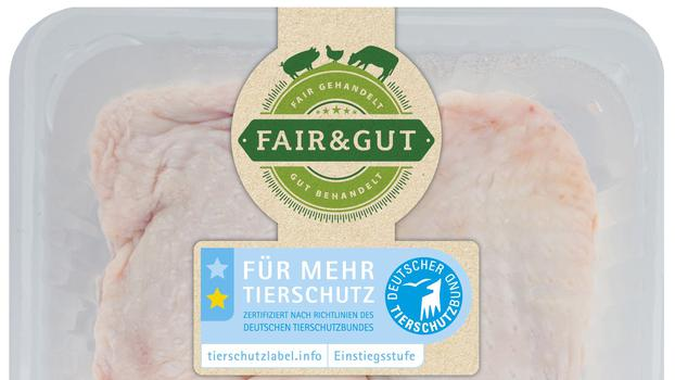 The new line is positioned between conventional economy meat and the premium organic private label.