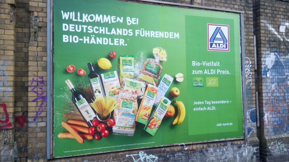 Aldi is increasingly using the fact that is has become the top destination for organic goods (in terms of sales) within its marketing.
