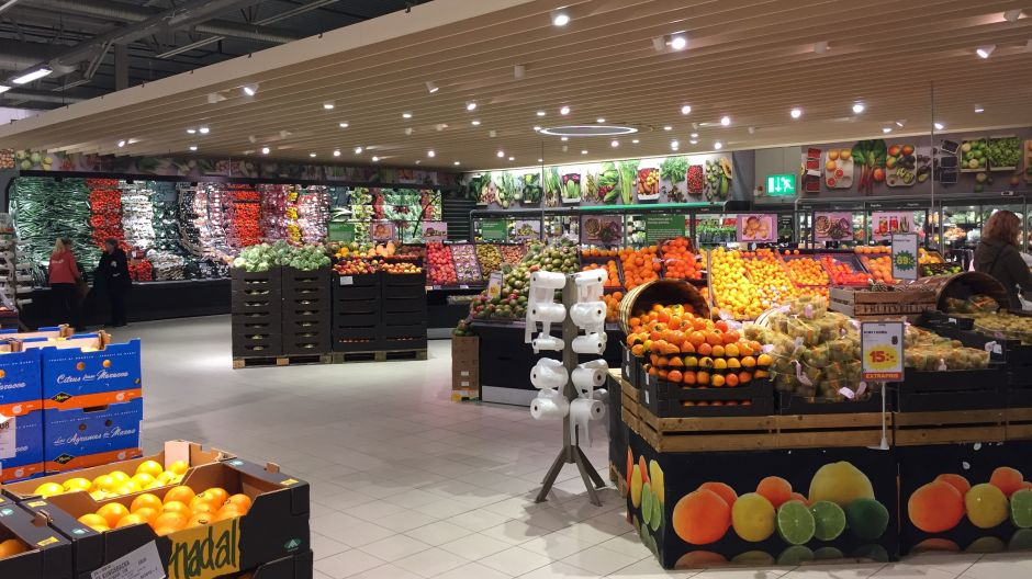 The Fruit & Vegetables department has been widened after the revamp and is instrumental in communicating Stora Coop's fresh food focus
