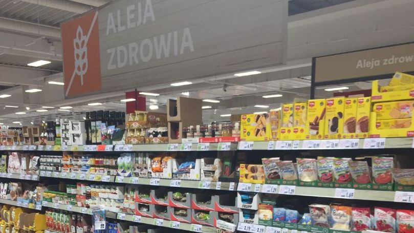 As a new commercial element Kaufland has condensed existing and new health-related products in its 'Aleja Zdrowia' ('Health Aisle') shelf.