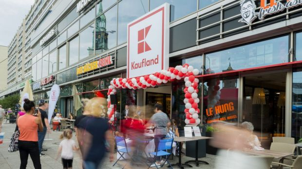 Soon also a regular sight in the Netherlands? Kaufland's recently opened compact format in the city centre of Berlin.