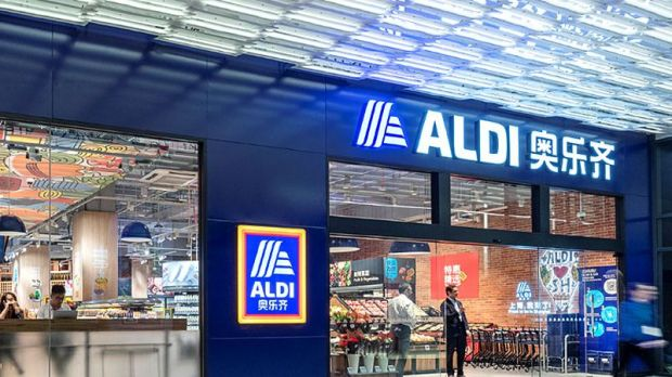 German trade pioneer: One of now seven Aldi stores in Shanghai