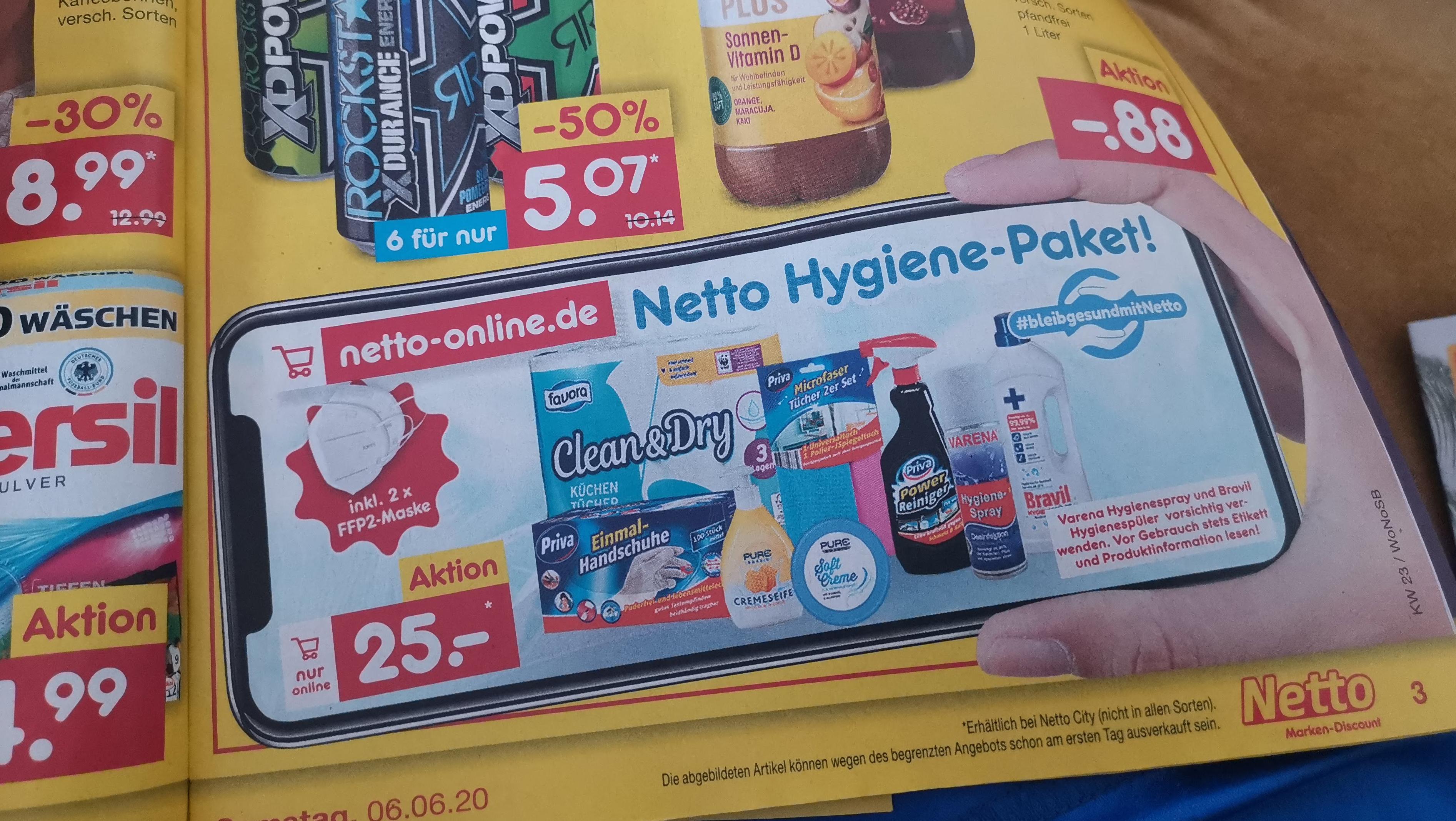 Hygiene-Paket: Netto lockt mit FFP2-Masken