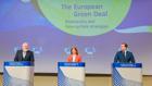 Videopressekonferenz:  Kommissions-Vize Frans Timmermans und die beiden EU-Kommissare Stella Kyriak