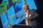 Ingo Müller, CEO DMK Group, auf der Vertreterversammlung seiner Genossenschaft.