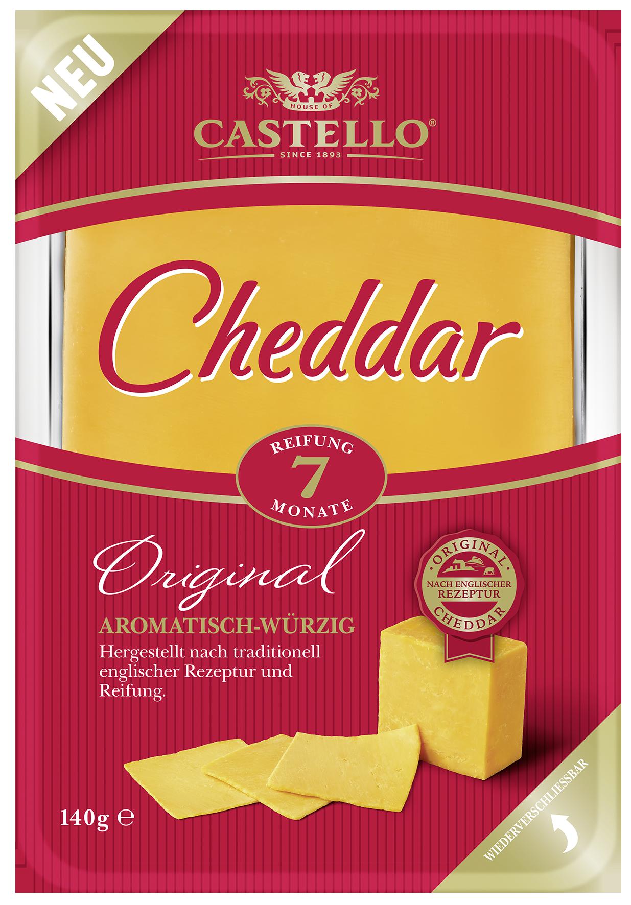 """Castello: Cheddar """"Original"""" und """"Extra lange gereift"""""""