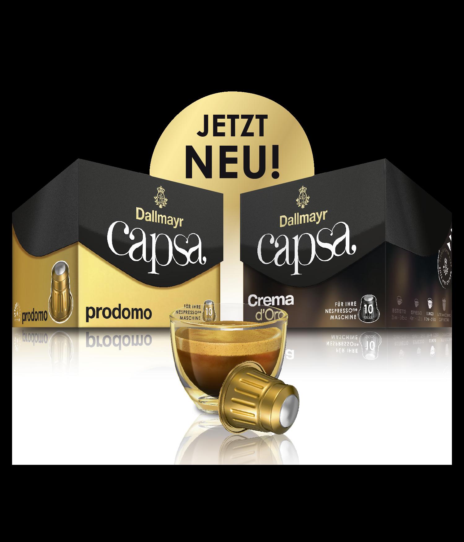 Dallmayr Capsa prodomo und Crema d'Oro: Dallmayr Klassiker